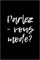 Wood print  Parlez-vous mode? - Martina illustration