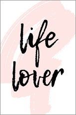Foam board print  Life Lover quote - Martina illustration