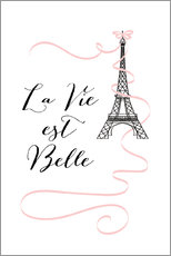 Acrylic print  Eiffel Tower Paris quote - Martina illustration