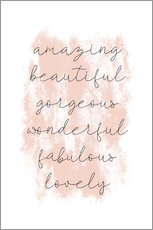 Acrylic print  Amazing empowering quote - Martina illustration