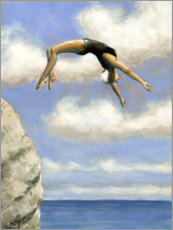 Canvas print  Jumping from a rock - Sarah Morrissette