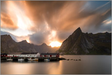 Premium poster Dramatic sky over Lofoten, Norway
