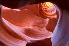 Premium poster Rock formation in the Lower Antelope Canyon