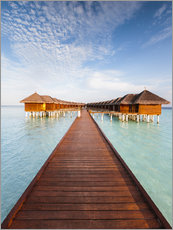 Premium poster Pier in luxury resort, Maldives