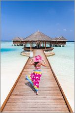 Acrylic print  Woman in a luxury resort, Maldives - Matteo Colombo