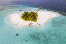 Premium poster  Aerial view of dream island in the Maldives - Matteo Colombo