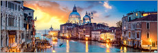 Alu-Dibond  Venice in the evening - Art Couture
