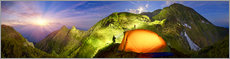 Canvas print  Camping above the clouds - Art Couture