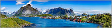 Canvas  Panorama of Lofoten Archipelago - Art Couture
