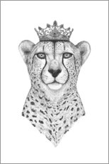 Wall sticker  Queen Cheetah - Valeriya Korenkova
