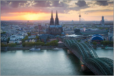 Acrylic print  Sunset over Cologne - Martin Wasilewski
