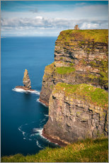 Canvas print  Cliffs of Moher Castle, Ireland - Sören Bartosch