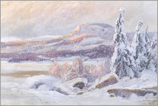 Canvas  Winter landscape - Carl Brandt