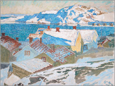 Acrylic glass  Winter landscape at Kvarnberget - Carl Wilhelm Wilhelmson