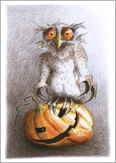 Wall sticker  Old Vampire Owl Halloween - Stefan Kahlhammer
