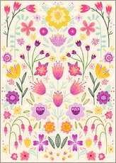 Wall sticker  Floral symmetry - Nic Squirrell