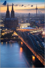 Acrylic print  Evening in Cologne - Martin Wasilewski