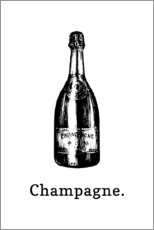 Acrylic print  Champagne bottle - Typobox