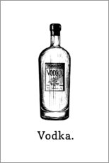 Canvas print  Vodka bottle - Typobox