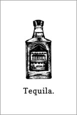Acrylic print  Tequila bottle - Typobox