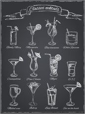 Canvas print  Classic cocktails - Typobox