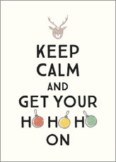 Canvas  Keep calm and get your Hohoho on - Typobox