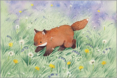 Poster  Fox in the meadow - Michelle Beech