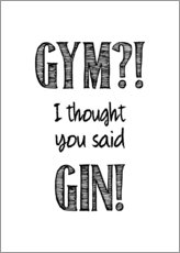 Wall sticker  Gym or Gin - Typobox