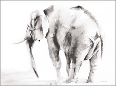 Acrylic glass  Lone elephant