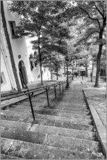 Acrylic print  Endless steps to Montmartre