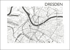 Premium poster  City map of Dresden - 44spaces