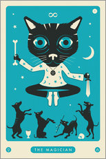 Jazzberry Blue - THE MAGICIAN TAROT CARD CAT