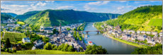 Poster  Mosel valley in the sunshine - Art Couture