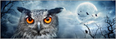 Wall sticker  Owl in the moonlight - Art Couture