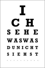 Poster  Eye test German - Typobox