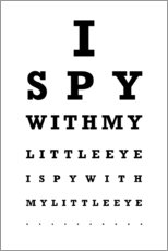Premium poster  Eye test English - Typobox