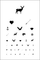 Acrylic print  Eye test icons - Typobox