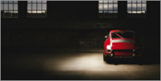 Premium poster  Red Porsche 911 - Art Couture