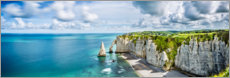 Poster  Rock gates of Etretat - Art Couture