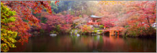 Wood print  Japanese garden - Art Couture