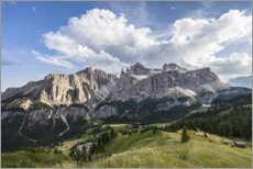 Premium poster  View over Colfosco to the Sella Group, Dolomites - Gerhard Wild