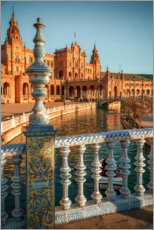 Premium poster  Plaza de Espana in the evening light - Sören Bartosch