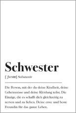 Premium poster  Schwester Definition (German) - Johanna von Pulse of Art