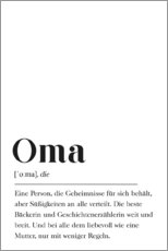 Canvas print  Oma Definition (German) - Pulse of Art