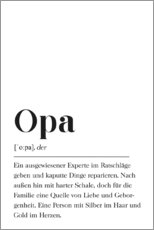 Canvas print  Opa Definition (German) - Pulse of Art