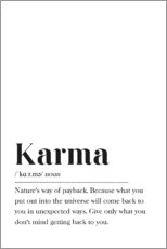 Premium poster  Karma Definition - Pulse of Art