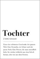Premium poster Tochter Definition (German)