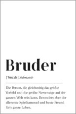Premium poster Bruder Definition (German)