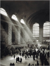 Acrylic print  Holiday Crowd at Grand Central Terminal
