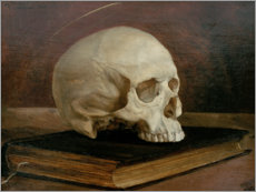Canvas print  Skull on a book - Wilhelm Trübner